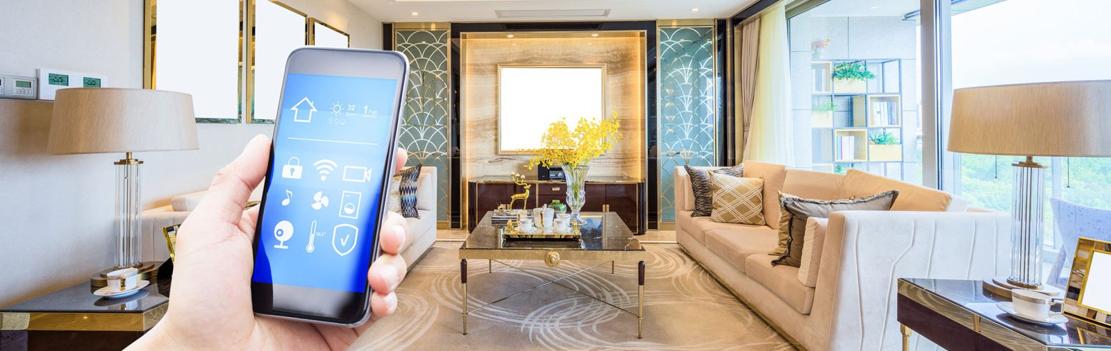 Mobile phone controlling Home Automation - Qualicum Beach, Parksville, Nanaimo electricians