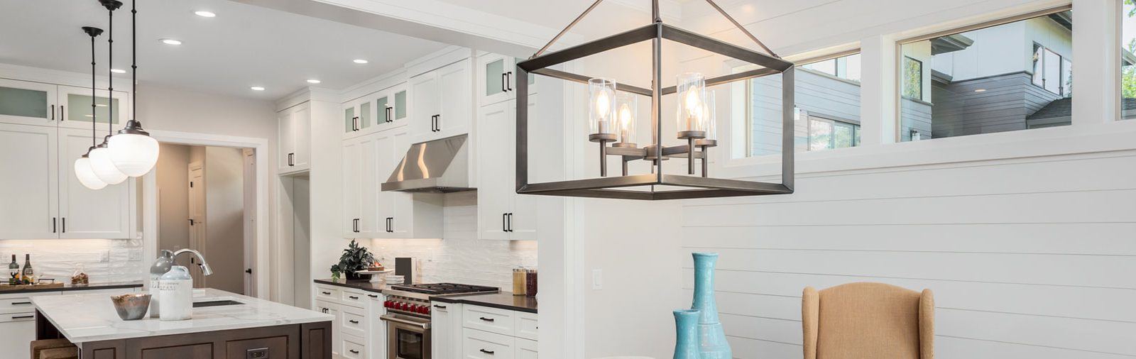 Interior kitchen lighting installation - Qualicum Beach, Parksville, Nanaimo electrical company, Collins Electric
